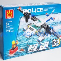 Bricks Wange Police Coast Guard Plane 51014