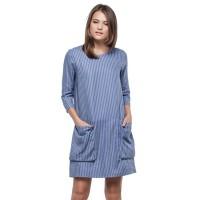 Minimal Pinstripe Oversize Poc Dress (mnm0712-40067530041)