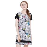 Minimal Fjore Loose Dress Black Combo (mnm0712-40065710032)