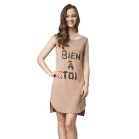 Minimal Becca Buttoned Dress Beige (mnm0712-40067490017)