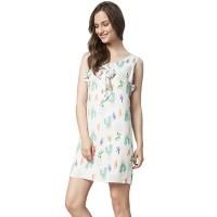Minimal Cacti Bow Dress Off White Combo (mnm0712-40066680051)