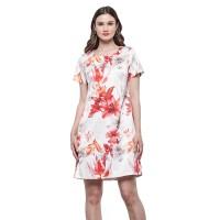Minimal Tropical Shift Dress White Orange (mnm0712-40066250018)