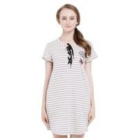 Minimal Gracie Stripe Dress Dark Grey (mnm0712-40065620041)