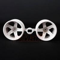 Tamiya GF01 White 5 Spoke Wheels EP 1:12 RC Cars 4WD Truck #54676