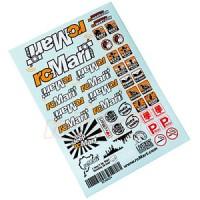 rcMart Stylish Sticker A5 1:10 2WD 4WD RC Cars Crawler Drift Touring #