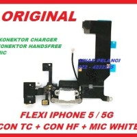 harga Flexible Iphone 5g Connector Charger Con Headset Mic White Ori 701723 Tokopedia.com