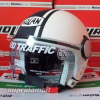 Helm Nolan N20 Traffic Caribe White Flat Half Face