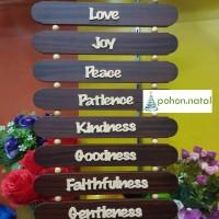 Hiasan Dinding Gantung Kayu Rohani Fruit of Spirit (Buah Roh)