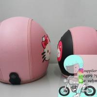 Helm Bogo Karakter Hello Kitty Couple / Pink / Black