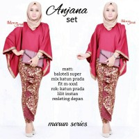 Setelan Kebaya Batik Modern Model Batwing - Anjana Set