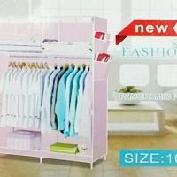 harga Cloth Rack With Cover Rak Baju Multi Fungsi ( Lemari Kain Non Woven ) Tokopedia.com