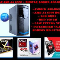 PC RAKITAN GAMING AMD A4 6300 BOX + ASROCK A68-DG3+