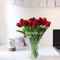 artificial flowers tulip merah