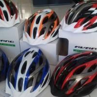helm sepeda mtb avand gunung bike helmet helem bicycle lampu