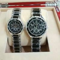 Jam tangan couple, Chanel keramik, simple/elegant, super premium
