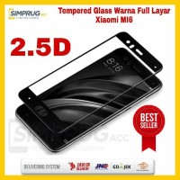 Anti Gores Tempered Glass Warna Color Full Layar 9H 2.5D Xiaomi 6 Mi6