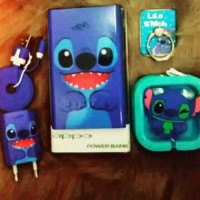 Jual Paket Stitch (powerbank iring charger handfree) Murah