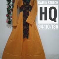 Butik FYA   Maxi Dress/Gamis/Baju Muslimah Katun Strech Etnik Tan
