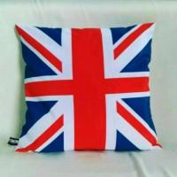 Sarung Bantal Sofa motif London, Paris, bendera England