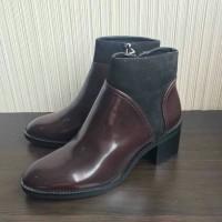 ZARA 6132 Maroon Sepatu Boots Wanita Original