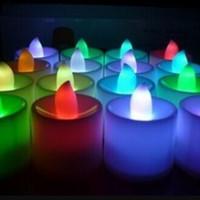 Jual Lampu Lilin elektrik LED tanpa api mini menyala warna natal Murah