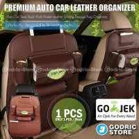 harga Leather Premium Auto Car Organizer Tas Jok Kulit Mobil - Coklat Tua Tokopedia.com