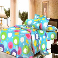 Jual Chelsea Rosewell Sprei 160x200cm (Queen) - Colorfull Dot Blue Murah