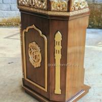 Mimbar masjid, mimbar, podium, mihrab