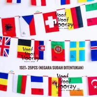 Bendera Negara/Bunting Flag/Bunting Flags/Bendera Tangan Asean Euro UK
