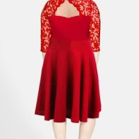 MyL - Dress Brokat - Lace Big Size Jumbo M - XXXXXXL Kode 0902-2 RED