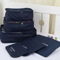 Jual Tas Travel Traveling Bag in Bag Organizer Pouch Besar 6in1 (Isi 6pcs) Murah