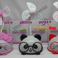 New Arrival   Lampu Tidur + Kipas Angin  Hello Kitty & Panda