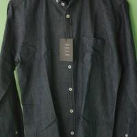 Jual Original BNWT Elle Long Sleeve Oxford Shirt - Dark Grey Murah