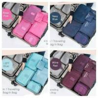Jual PROMO !! Tas Travel Bag in Bag Organizer 6 in 1 Set  Murah Berkualitas Murah