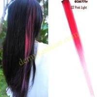 Hair clip rambut ombre warna warni part 1