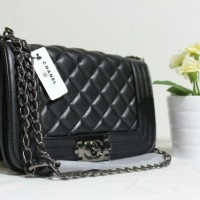 Jual Tas Wanita Handbag Tas Fashion Import Chanel Boy Mini Berkualitas Murah