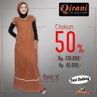 Qirani Dewasa Melati 92 | Baju Perempuan Wanita Muslim Gamis Dress