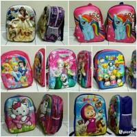 Jual Tas ransel sekolah anak 3D Frozen pony Kitty Masha tsum tsum barbie Murah