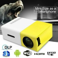 Mini Projector LED | Proyektor | Projektor YG300 | Mini Theater KUNING