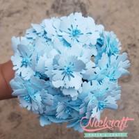 Jual Paper Flower / Bunga Kertas - Peony Light Blue Murah