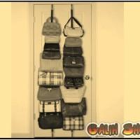 Bag Rack Adjustable Hold 16 Bags - Rak Tas Organizer Terbaik