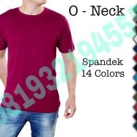 O- NECK Kaos spandek kaos spandex polos size M dan L (SEPERTI GAMBAR)