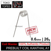 C10 Authentic Coil Master Pre-built Kanthal A1 0.6 ohm | 26 awg toko
