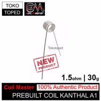 S66 Authentic Coil Master Pre-built Kanthal A1 1.5 ohm | 30 awg toko