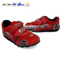 Sepatu Cars / Sepatu Sekolah Cars Merah [26-35] Velcro