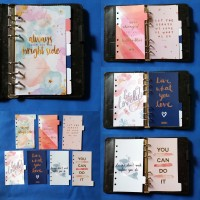 Pembatas quotes binder organizer 6 ring ukuran A6 1 set 7 lembar