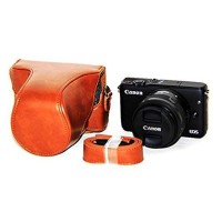 Sarung Kulit Leather Case Tas Kamera Camera Canon Eos M10 M 10 Coklat