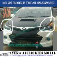 Mata Sipit Eyelid Alis Lampu Depan Fiber Toyota All New Avanza Veloz