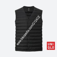 ROMPI PRIA UNIQLO COMPACT ULTRA LIGHT DOWN VEST 400500 HITAM BLACK