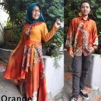 Jual Baju couple batik sarimbit gamis pakaian pesta pasangan SRG Kresna 1 Murah